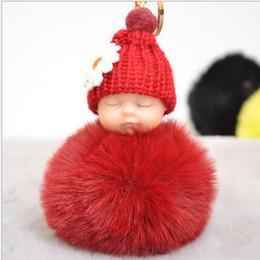 boneca de bebês bonitos Desconto Moda Faux Fur Bonito Do Bebê Bola Saco Chave Do Anel Pingente Chaveiro Decor Little Doll 12 ESTILOS