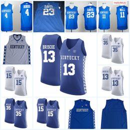 cf7c66a4f565 Mens NCAA Kentucky Wildcats Anthony Davis College Basketball Jersey Derek  Willis Isaac Humphries Isaiah Briscoe Rajon Rondo Wildcats Jersey