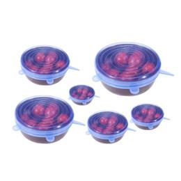 6 Unids / set Universal de Silicona Stretch Preserve Pot Tapa Tazón para Frigorífico Horno de Microondas Food Saver Cubierta de Contenedores Reutilizables desde fabricantes