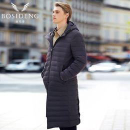 96f28ced1ae men winter jacket parka hoodie 2019 - BOSIDENG 2017 new Long down coat  early winter Spring