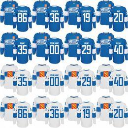 Wholesale Cup Teams - 2016 World Cup of Hockey Finland Team Jersey 29 Patrik Laine 35 Pekka Rinne 36 Jussi Jokinen 40 Tuukka Rask Custom Hockey Jerseys