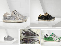 Wholesale little blue shoes - Golden Goose GGDB shoes silver sequined star with a little old men and women shoes dirty shoes