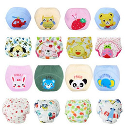free potty training NZ - Baby Training Pants Baby Diaper Reusable Nappy Washable Diapers Cotton Learning Pants Free Shipping 2 Piece