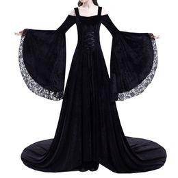Abbigliamento da donna cheap black red renaissance dress da abito rosso  rinascimentale nero fornitori 9088284b628