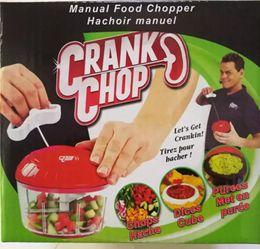 Wholesale Hand Vegetable Shredder - CRANK CHOP Multifunctional Hand Chopper Food Chopper Vegetable Cutter Processor Chopper Garlic Cutter Vegetable Fruit Tools 80pcs