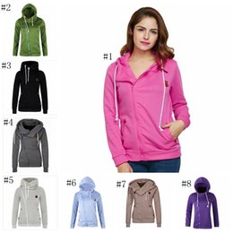 Wholesale kawaii sweatshirt - 8 colors Women Kpop Harajuku Kawaii Sportswear Tracksuit Side Zipper Shrink Hoodies Sweatshirts Female Swissott Coat MMA369