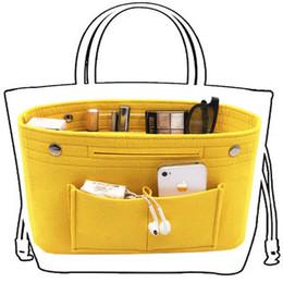 Borse multi tasche online-Obag Felt Cloth Inner Bag Women Fashion Handbag Multi-tasche Cosmetici Storage Organizer Borse Borse da viaggio Accessori