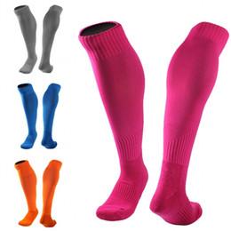 Wholesale grey knee socks - Sports Sockings For Women Men Long Tube Sock Over Knee Thicken Towel bottom Adult Soccer Socks Anti-Skid 10 Styles Wholesale Free DHL G466Q