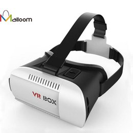Wholesale headset video games - Malloom 3D VR Virtual Reality Headset 3D Glasses VR BOX For iPhone 6S For Samsung Movie Video Game With Packaged