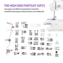 pie máquina de coser doméstica Rebajas 42 unids Multifuncional Máquina de Coser Doméstica Prensatelas Kit de Pies de Pie Con Caja para el Hogar Máquina de Coser Eléctrica