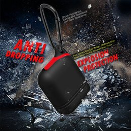 Wholesale New Waterproof Shockproof Case Iphone - New Silicone Airpods 360° Protective Shockproof Waterproof Anti-drop Case Cover for Airpods Bluetooth Handfree Wireless Earphone Case