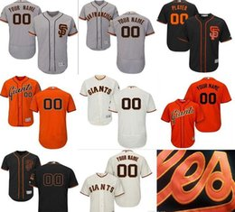 Wholesale Names Personal - CUSTOM San Francisco Giants Mens Women Youth Customized Majestic Stitched Baseball Jerseys Personal name Person number