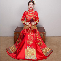 Chinese Cheongsam Red Wedding Dresses Canada   Best Selling Chinese ...