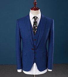 Argentina 2018 marcas famosas trajes de hombre para la boda Slim Fit solo pecho para hombre Tuxedos novio traje de boda (chaqueta + pantalones + chaleco + corbata) cheap famous vests Suministro
