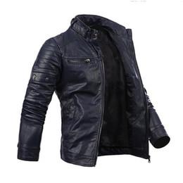männer s coole lederjacken Rabatt Herren Cool Multi-Pocket Slim Zip Mantel Kunstleder Motorrad Biker Jacke