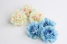 Bella simulazione artificiale fiore peonia peonia crisantemo testa fai da te fiore di seta ghirlande cappelli abbigliamento borse accessori cheap silk diy bag da borsa diy di seta fornitori