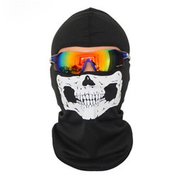 Wholesale Skull Dust Caps - Balaclava mask Faces Goods for bicycles cycling mask Exercise Sun Wind And Dust Riding Skull 816 P30