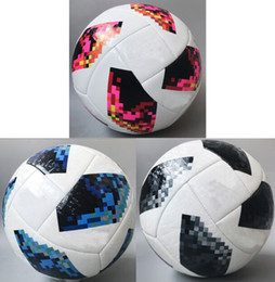 Wholesale Sport Football Kits - 2018 RUSSIA football World cup Size 5 Balls soccer Ball high-grade Soccer equipment Sport football argentina spain Belgium brasil kits