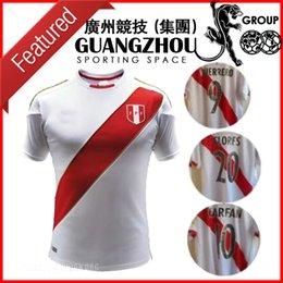 Wholesale Football Polo Shirts - 2018 WORLD CUP Peru soccer jerseyS FLORES 20 CARRILLO CUEVA TAPIA HURTADO FARFAN POLO JERSEY REYNA HOME GUERRERO SHIRTS football SHIRTS