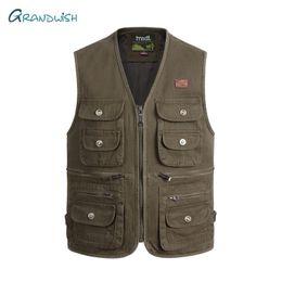 mes jacket NZ - Grandwish Casual Mes Photography Vest Men Quick-Drying Waistcoat Working Vest Male Sleeveless Jacket Multi Pocket,DA845