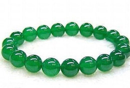 """Wholesale 14mm Acrylic Plastic Beads - 14mm Real Natural Green Jade Round Beads Bracelet 7.5"""" AAA+<<<free shipping"""