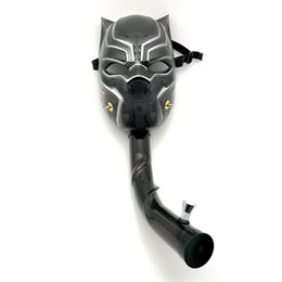 Wholesale Custom Bongs - HOT Bongs Water Pipe with Plastic Gas Mask Black Style Removable Acrylic Bong Black Pipes Flexible Pipe Custom Made Mask