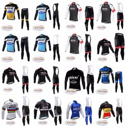 Wholesale Class Clothes Men - QUICK STEP BORA team Cycling Winter Thermal Fleece jersey (bib) pants sets Competition-class high-quality winter men cycling clothes F0717