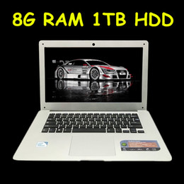 Wholesale Дешевые ноутбук ноутбук Celeron J1900 четырехъядерный G оперативной памяти ТБ HDD Windows WIFI веб камера портативные ноутбуки ПК Цвет