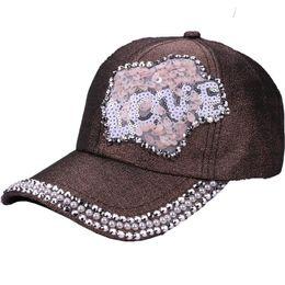 Pearl Point Drill Baseball Cap Hat Ponytail Snapback cap Bun Caps For Women  Summer Sequins Trucker Hat Fashion Girl Hip Hop Hats 48d97bc20d29