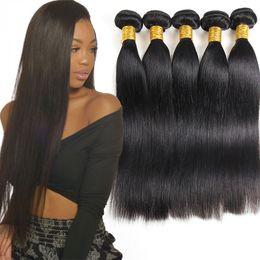 естественное скручивание 16 дюймов Скидка Класс 10A бразильский человеческих волос девственницы пучки прямые 3or 4 шт. необработанные бразильский Виргинские человеческих волос перуанский Виргинские Реми волос