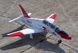 Rc combattenti aerei online-2015 NUOVO aereo da caccia jet rc elettrico Freewing T45 90mm metallo edf aereo PNP