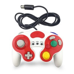 Wholesale console decorations - Wired Game Controller Gamepad for NGC Wii Console Gamecube Extension Cable Vibration 3 Function Button Turbo Colorful Decoration