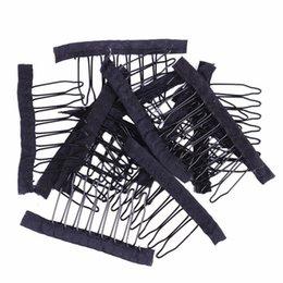 Peines de peluca de acero inoxidable para gorras de peluca 12pcs / lot Clips de peluca de suministro de fábrica para las extensiones de cabello Mejores clips para pelucas grandes desde fabricantes