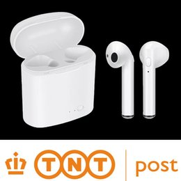 Wholesale ear phones for iphone - wireless Bluetooth Double-ear Headset True Wireless Sport headphones TWS with charge cabin For iphone and Samsung and Android Smartphone