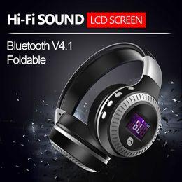 ZEALOT B19 LCD-Display HiFi-Bass Stereo-Bluetooth-Kopfhörer Drahtloses Headset DJ-Headset mit Mikrofon, UKW-Radio, Micro-SD-Kartensteckplatz von Fabrikanten