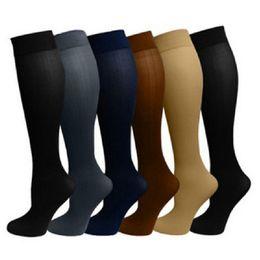 Wholesale Hot Nylon Leg - 6pairs Hot Miracle Anti Fatigue Compression Socks 6 Colors Women Men Anti-Fatigue Magic Leg Warmers Slimming Socks Calf Support Relief socks