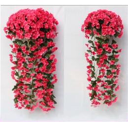 fiori viola artificiali Sconti Simulazione Violetto appeso a parete fiore di seta cerimonia nuziale display serie glicine artificiale decorare ortensia nuovo arrivo 14 5nn dd