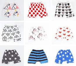 Wholesale horse children clothing - Ins Summer Baby Unicorn Fox Print PP shorts Kids Animal Fox Horse Geometric Printed shorts Harem short Children clothes Over 15styles free