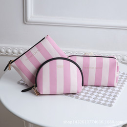 Wholesale Belt Strip - Pink sugao famous brand strip secrt print large capacity makeup bag cosmetic bags for travel storage organizer and toiletry bag