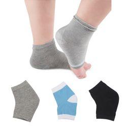 Трещина с трещинами в ногах онлайн-Women Men Silicone Gel Heel Socks Moisturizing Foot Protection Unisex Anti-cracking Cracking Foot Heel Moisture Sock 2018 New