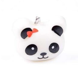Schönes designtelefon online-Neue 1 STÜCKE Schönes Design Nette 5 cm Squishy Charms Brötchen Handy Charme Kawaii Jumbo Panda Key Bag Riemen Anhänger