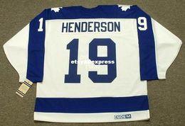 a55db708b custom Mens PAUL HENDERSON Toronto Maple Leafs 1973 CCM Jerseys Vintage  Home Cheap Retro Hockey Jersey discount 1973 s