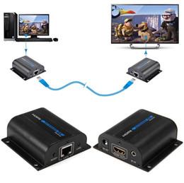 Canada LKV372A 1080P HDMI Extender 60M de CAT6 Câble de réseau de signal avec contrôle infrarouge pour lecteur de DVD HDTV Prise en charge de câble Ethernet HDMI 3D DVD supplier ethernet cable extender Offre