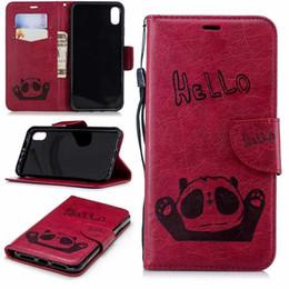 2019 telefones kickstand Para iphone xr 6.1 xs max 6.5 carteira de couro panda panda para nokia 5.1 3.1 2.1 Olá Slot Para Cartão ID Flip Capa + Strap Kickstand Telefone Bolsa desconto telefones kickstand