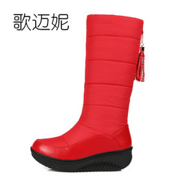 Wholesale Womens Waterproof Boots - waterproof snow boots women winter boots botas mujer gothic shoes womens with fringe laarzen winter shoes woman