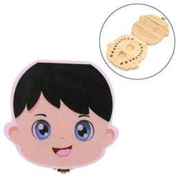 Canada Enfants Dents Boîte De Rangement Garçon Fille Dent Collection Boîte Peinture Boîte De Rangement En Bois Organisateur pour Bébé Sauvegarder Lait Dents Infantile Cheveux Offre
