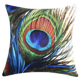 2020 cojines de pavo real Peacock Funda de Almohada Cama Cintura Throw Pillow Cover Dormitorio en Casa Marca Nueva Cómoda de Alta Calidad Droship 45cm * 45cm 10JUL 31 Funda de Almohada cojines de pavo real baratos