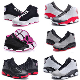 Wholesale Boy Shoes Size 13 - Baby 13 Kids Basketball Shoes Youth Children's Athletic Retro 13 Sports Shoes for Boy Girls Shoes Free Shipping size:28-35