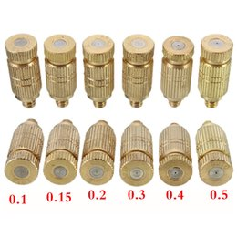 Fontes de cobre on-line-1 pc bico de pulverização de cobre umidificador bocal 3/16 conector vegetal fonte de irrigação 0.1-0.7mm acessórios de jardinagem