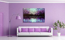 фиолетовое дерево painting холст Скидка 24x36inch ручной абстрактные стены деко искусства пейзаж маслом Мастихин фиолетовый дерево искусства на холсте
